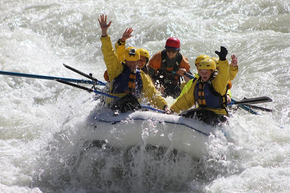 Get a big splash of adrenaline on the Kicking Horse River