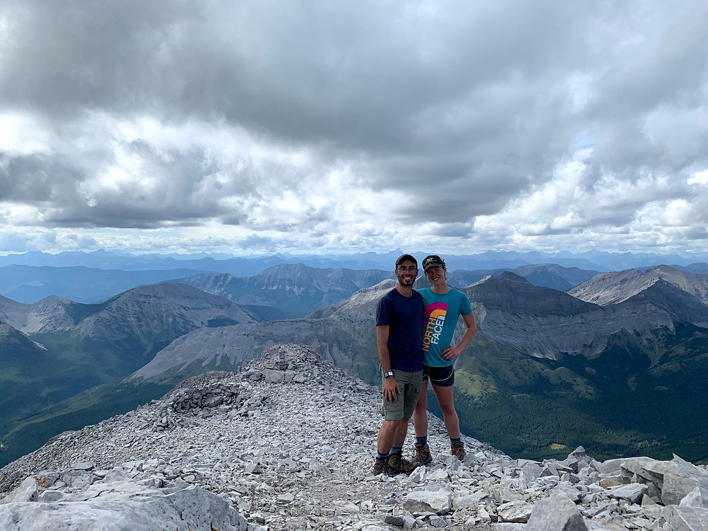 The summit of Crowsnest Mountain hiked by New Age Travel and Services