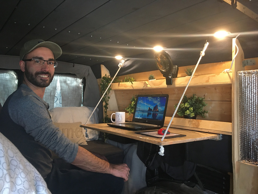 New Age Travel and Services provides campervan rentals adapted for digital nomads that can work while exploring Canada.