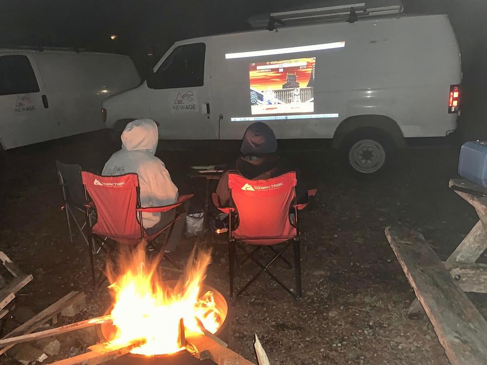 Fireside Camping in Alberta in the Fall