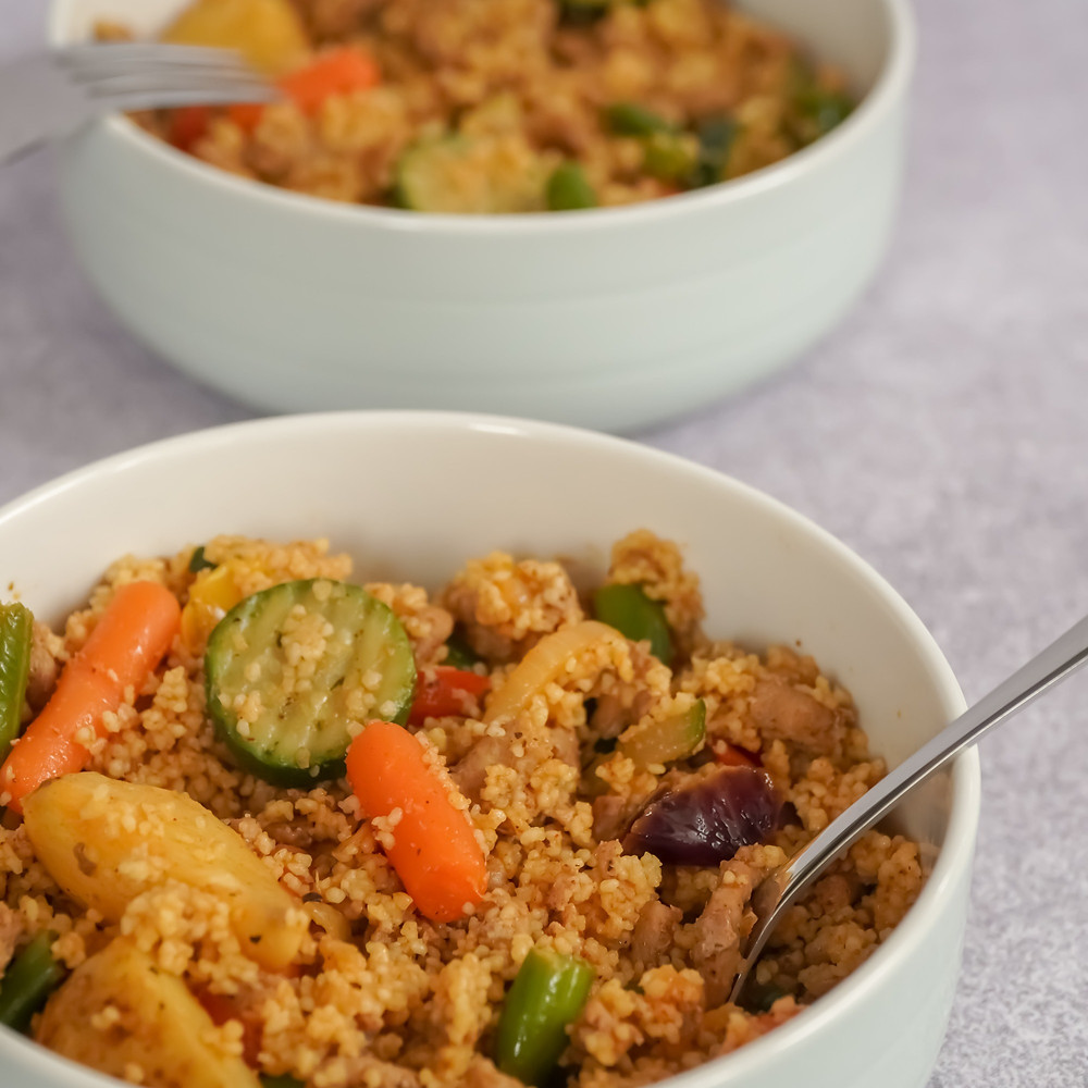 couscous is a healthy carbohydrate to add to your camping meals