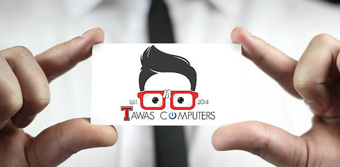 TAWAS COMPUTERS BUSINESS CARD