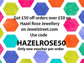 To celebrate the launch of my boutique on Jewelstreet. I have 8 £50 vouchers to be spent in my bouti