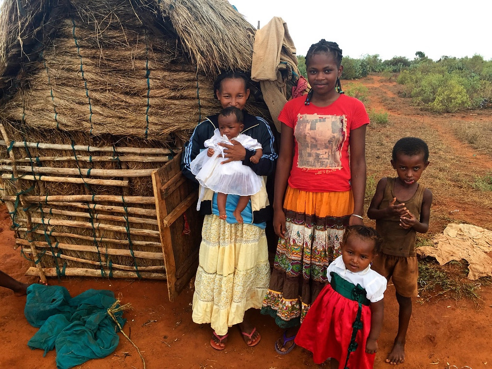 Cendria's classmate (to Cendria's right) with three of her four children.