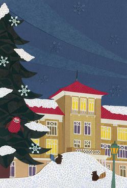 ハーツホンホールと雪化粧