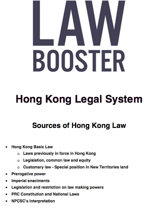 HK Legal System PCLL Conversion Full Note + Exam Question+ Answer