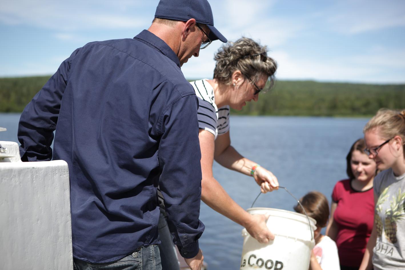 Ensemencement du Lac Lindsay