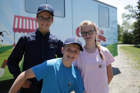 Mathias, Béatrice et Justin