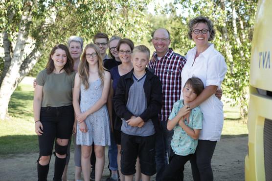Avec la Famille de la ville!