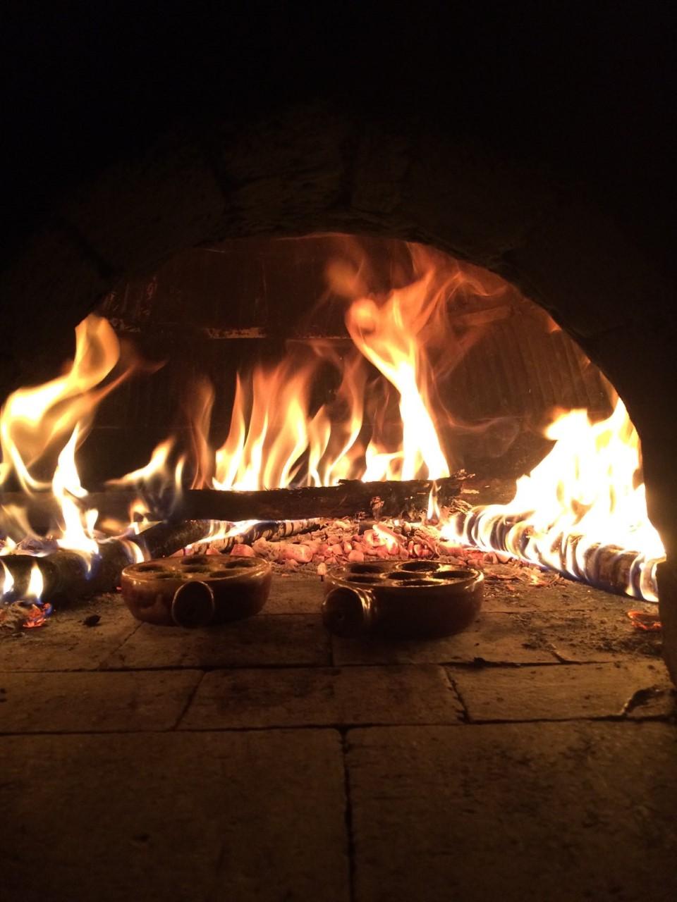 escargotier au feu de bois