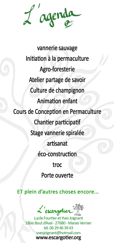 Programme escargotier 2018