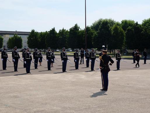 Remise des galons aux élèves-officiers de réserve de la promotion Sous-lieutenant ORISTE