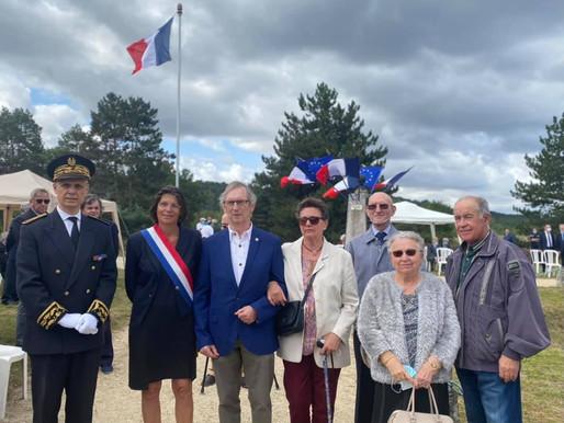 77 eme Cérémonie d'Hommage rendu aux 36 fusillés de la plaine de Chanfroy à Arbonne-la-Forêt.