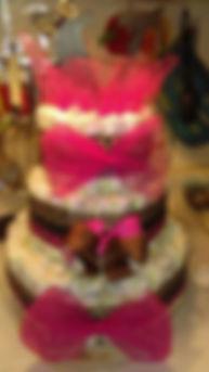 Princess Safari Diaper Cake