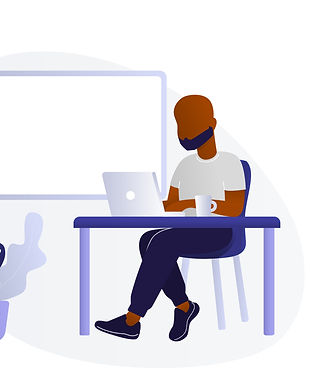 Black Man _ Black Woman Using Laptop B.j