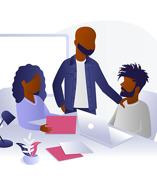 Group of Black Men and Women in Office S