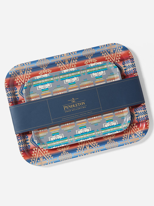 Pendleton Jacquard Birch Trays Set of Two - Birchwood
