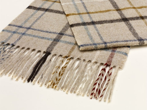 Bronte Moon Litton Oatmeal Windowpane Scarf