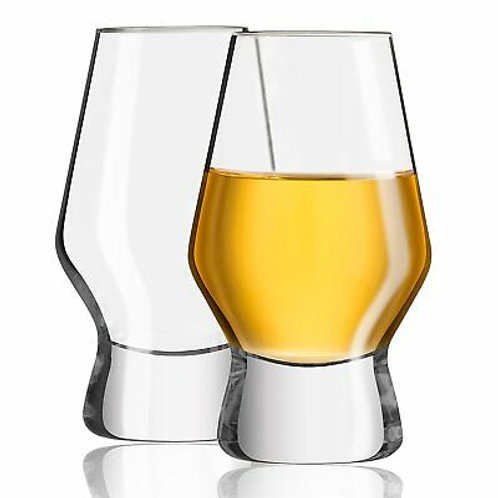 JoyJolt Halo Crystal Whiskey Glasses