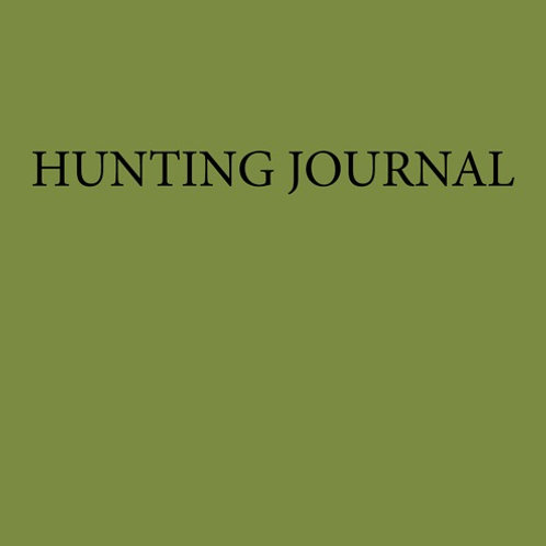 Beech Cottage Press Hunting Journal