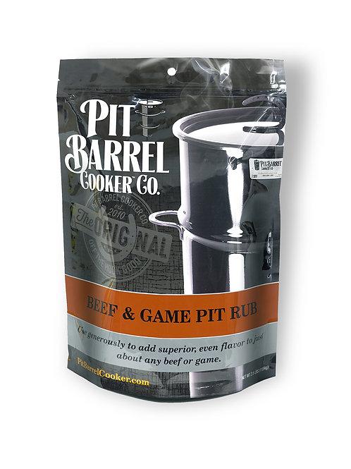 BEEF & GAME PIT RUB 2.5 LB. BAG