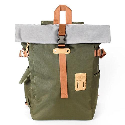 Harvest Label Roll Top Backpack - Olive