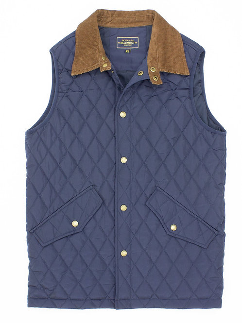 Properly Tied Beaumont Vest - Navy Blue