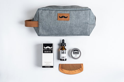 Private Stache Grooming Kit - Grit