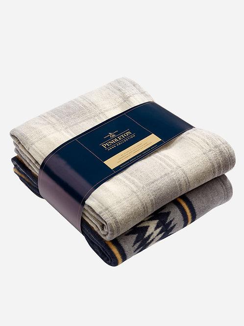 Pendleton Thunder Cotton Blanket Throw Set - Navy