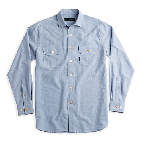 Duck Head Oxford Work Shirt Blue