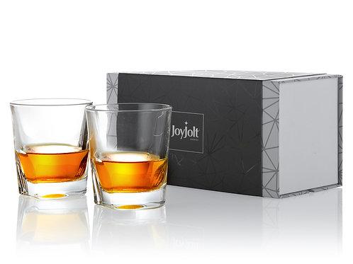 JoyJolt Carina Crystal Whiskey Glasses