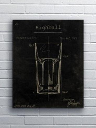 Splashworks Highball Glass Art