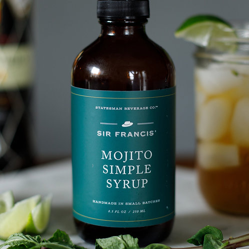 Statesman Beverage Co. Sir Francis' Mojito Simple Syrup