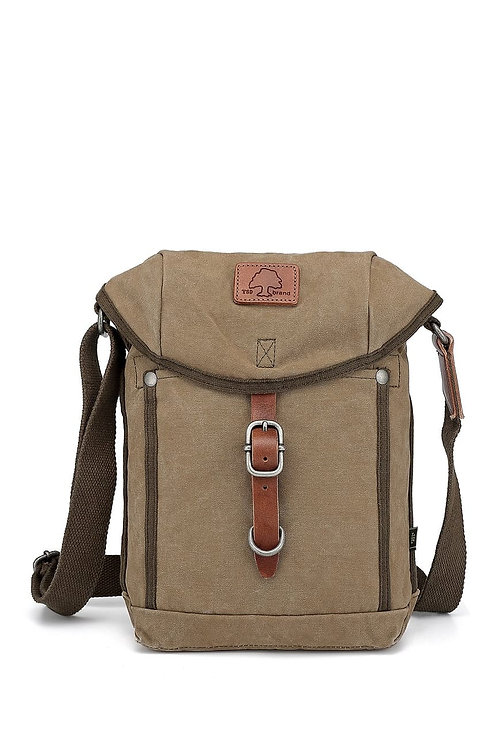 TSD Brand Forest Crossbody Bag With Flap -Olive