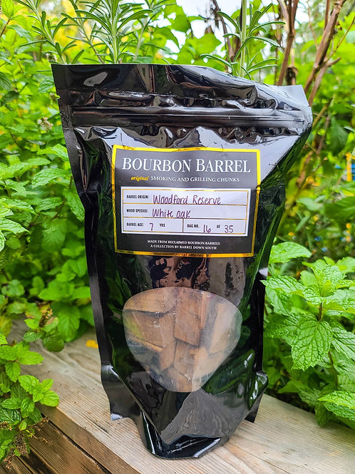 Bourbon Barrel Grilling and Smoking Chunks -Woodford Reserve