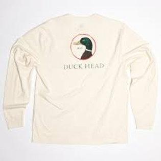 Duck Head Logo Long Sleeve Winter White