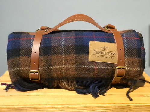 Pendleton Motor Robe with Leather Carrier - Douglas Tartan