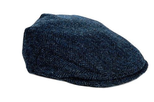 Bronte Moon Harris Tweed Flat Cap - Blue