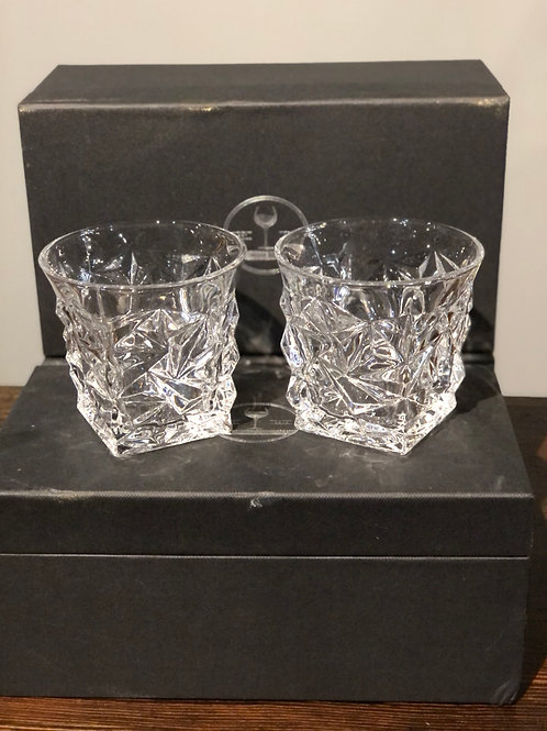 The Wine Savant Diamond Luxury Whiskey Glasses