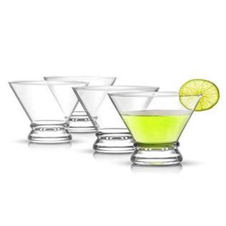 JoyJolt Afina Stemless Martini Glasses