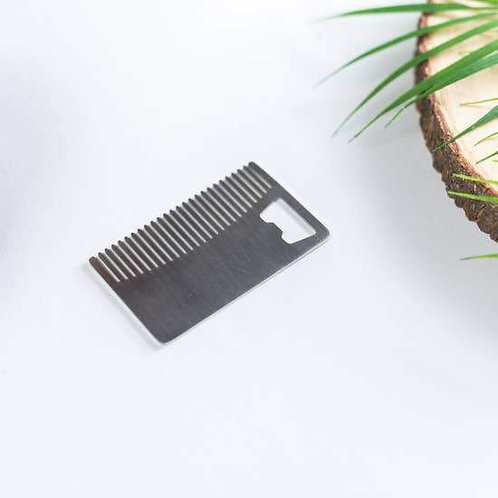 Stainless Steel Beard Comb and Bottle Opener