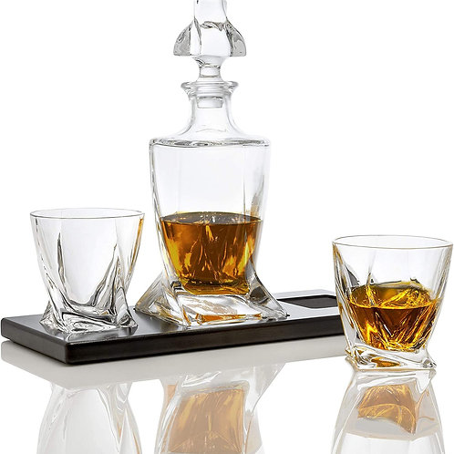 Bezrat Whiskey Decanter Set