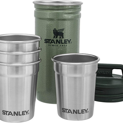 Stanley Thermos Adventure Nesting Shot Glass Set - Hammertone Green