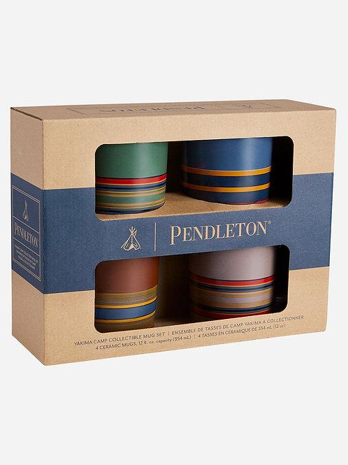 Pendleton 12oz Ceramic Mug Set of 4 - Camp Stripe
