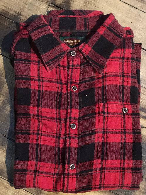 Flyshacker Lightweight Flannel - Red/Black