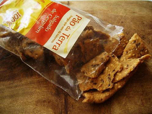 Biscoito salgado de gergelim Pão da terra 100gr