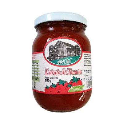 Extrato de tomate orgânico Aecia - 250g