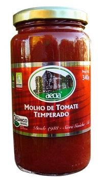 Molho de tomate orgânico Aecia - 340gr