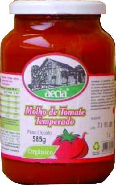 Molho de tomate orgânico Aecia - 585g