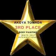 Akoya Tamada 3rd Place Body Painting IMATS 2017